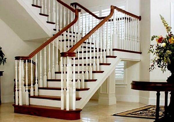 Выбор лестницы на второй этаж в частном доме 21 фото