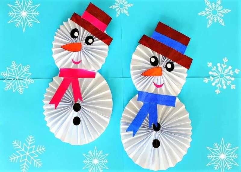 два снеговика из гармошки
