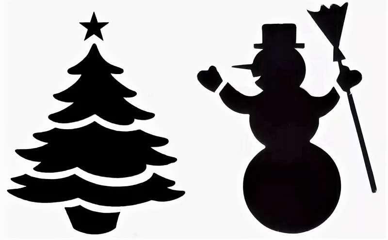 снеговик на новый год с елочкой