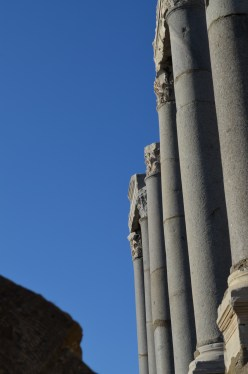 Columns next to the Agora in Smyrna