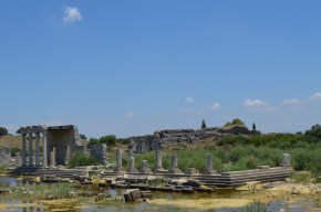 Ionic Stoa in Miletus with flooded ground in front