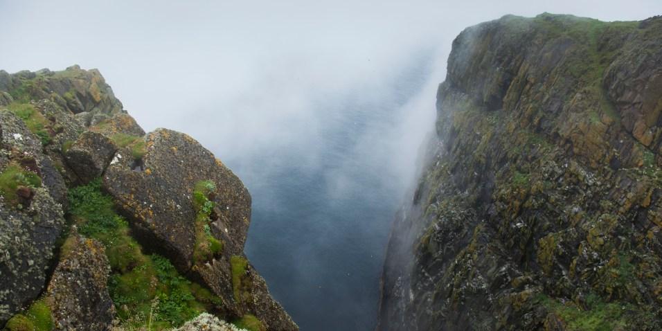 Cliffs in the cloud