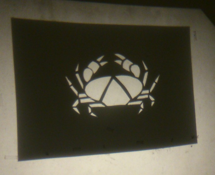 Crab stencil projection