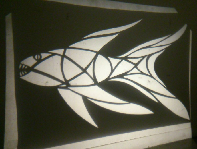 Fish stencil projection