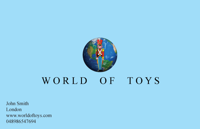 World of Toys business card