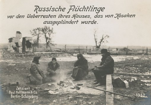 German Postcard Blamed Cossacks for Destruction