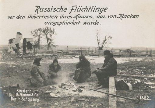 German Postcard Blamed Cossacks for Destruction