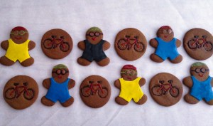 Gingerbread Triathletes and Bicycles