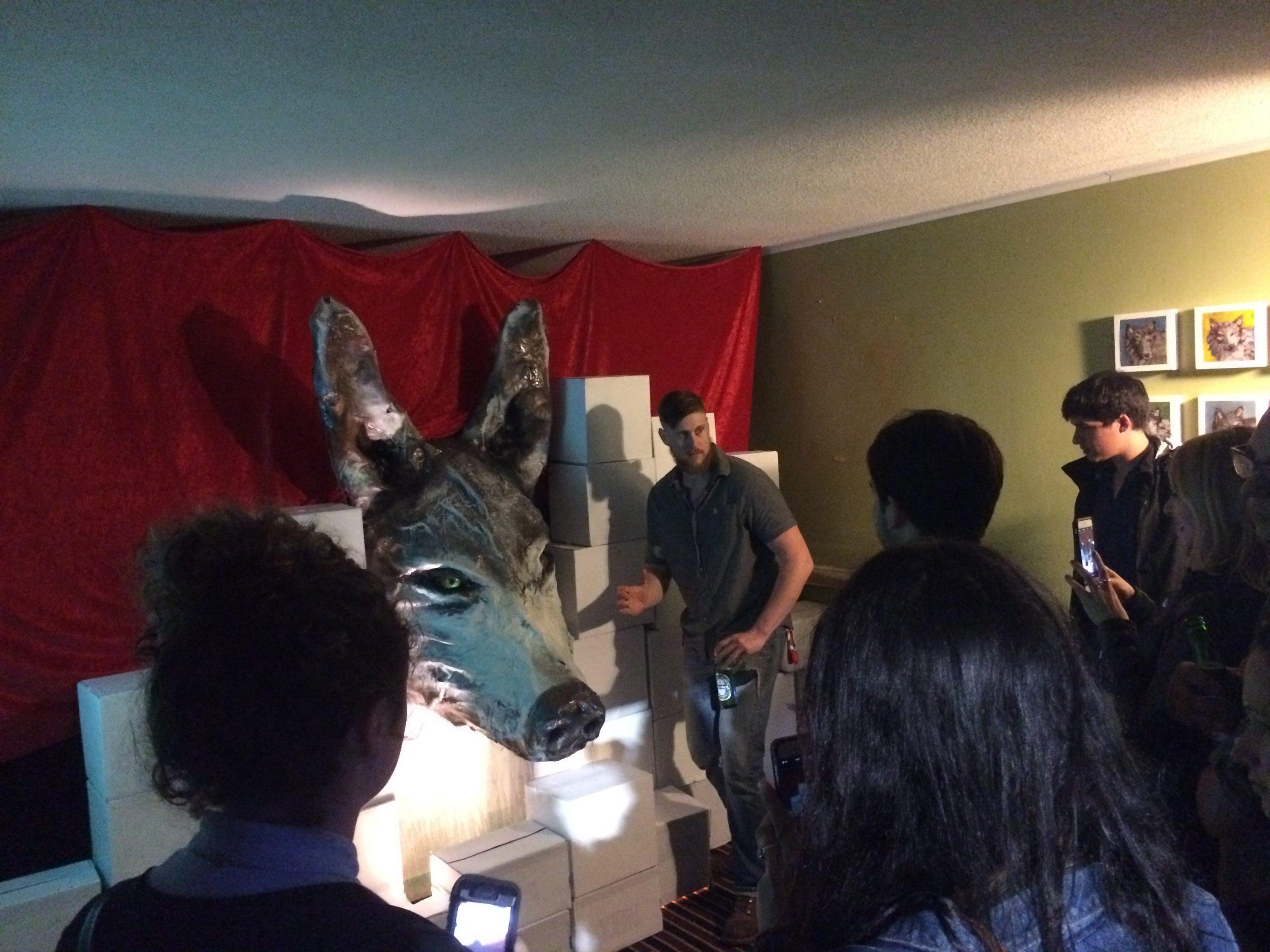 Wolf City Animal Art Painting Installation Will Eskridge