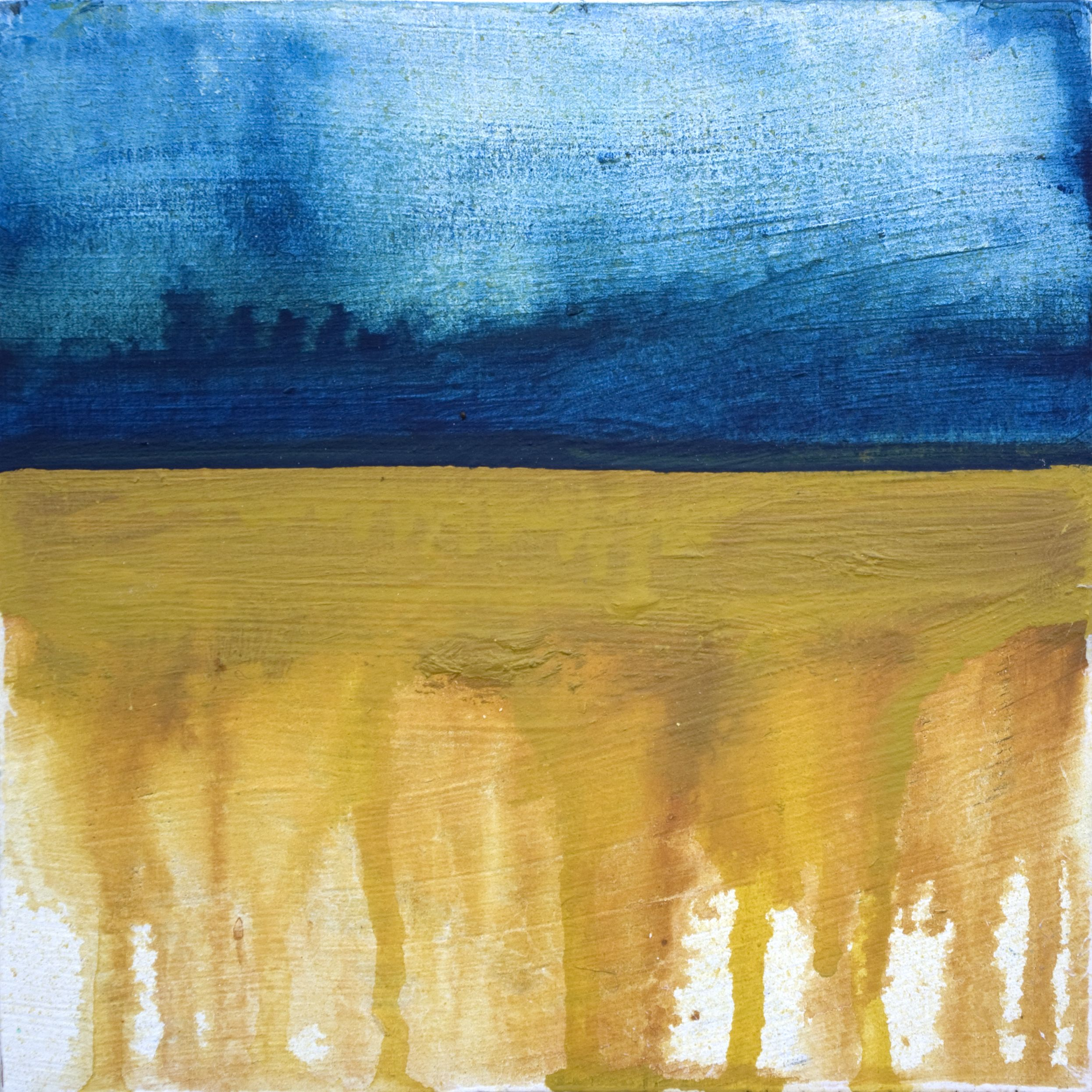 Winter Rain Landscape Abstract Art Painting Will Eskridge