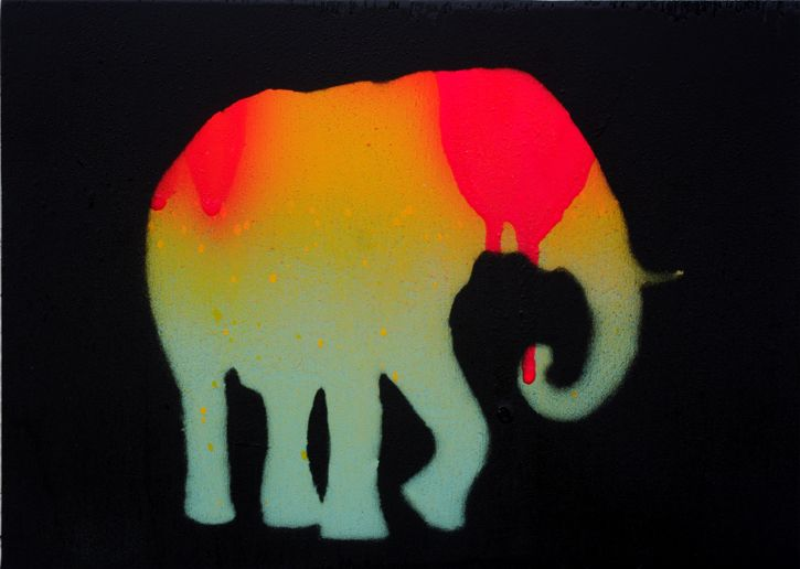 Elephas-Maximus-1-animal-art-painting-Will-Eskridge