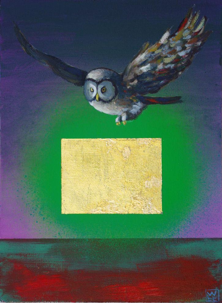 No Prey In Sight – Original Owl Painting