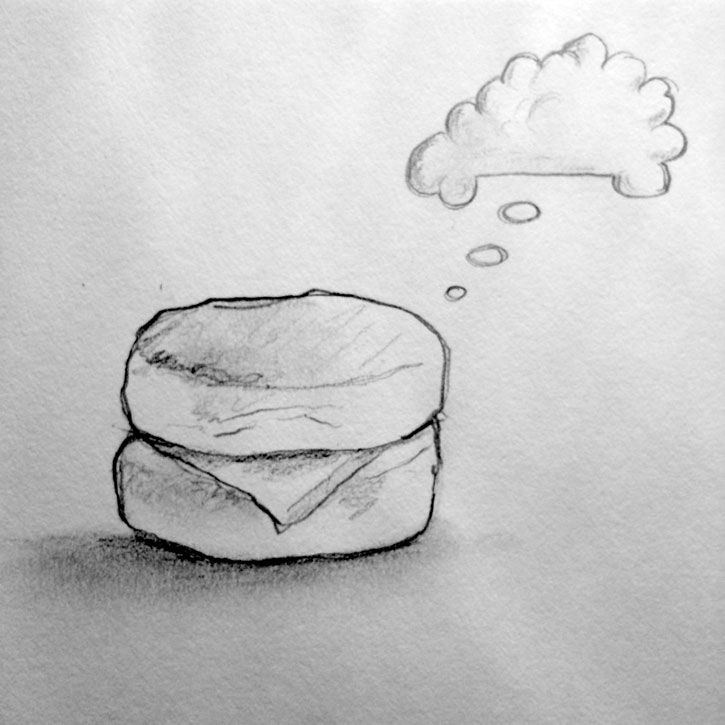 Biscuit Cloud Haiku Drawing Art Will Eskridge