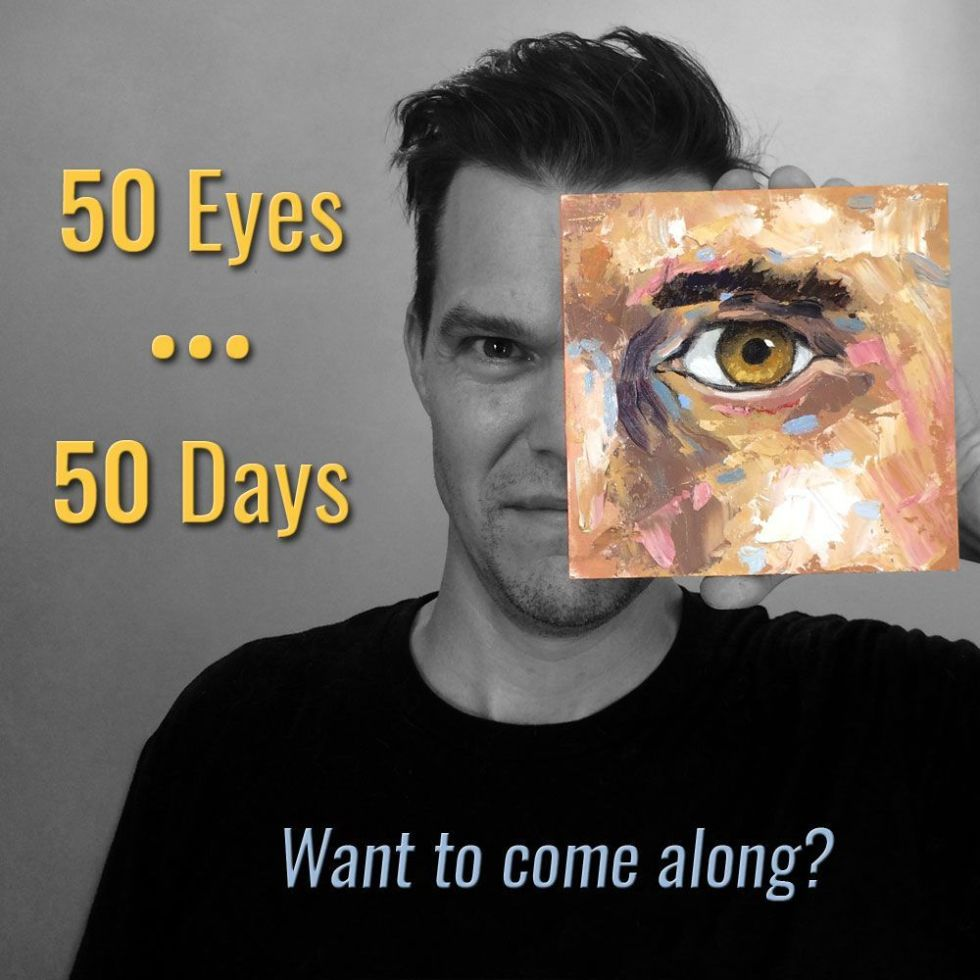 Fifty Eyes Fifty Days art project journey animal artist art Will Eskridge
