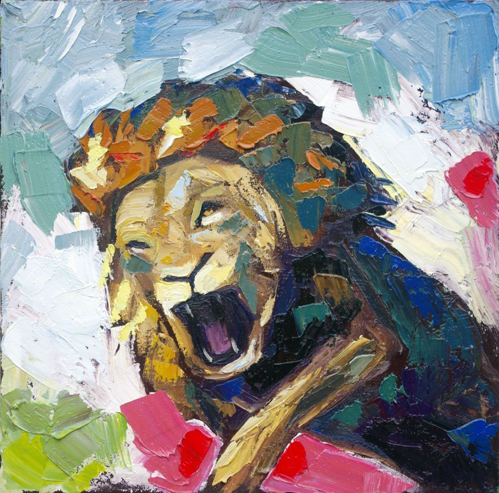Desert Roar Lion Painting Animal Art Wildlife Will Eskridge