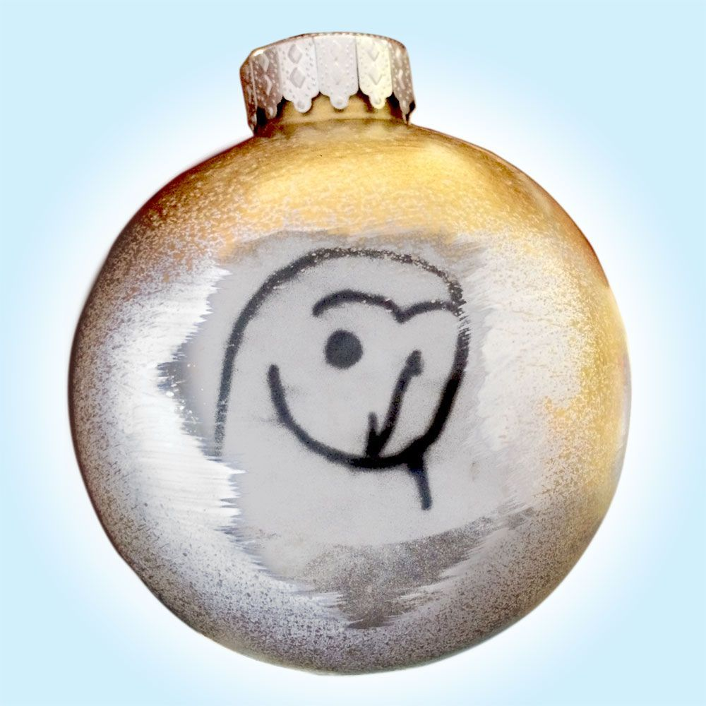 White Barn Owl Christmas Tree Ornament Animal Artist Art Handmade Craft Gift Will Eskridge