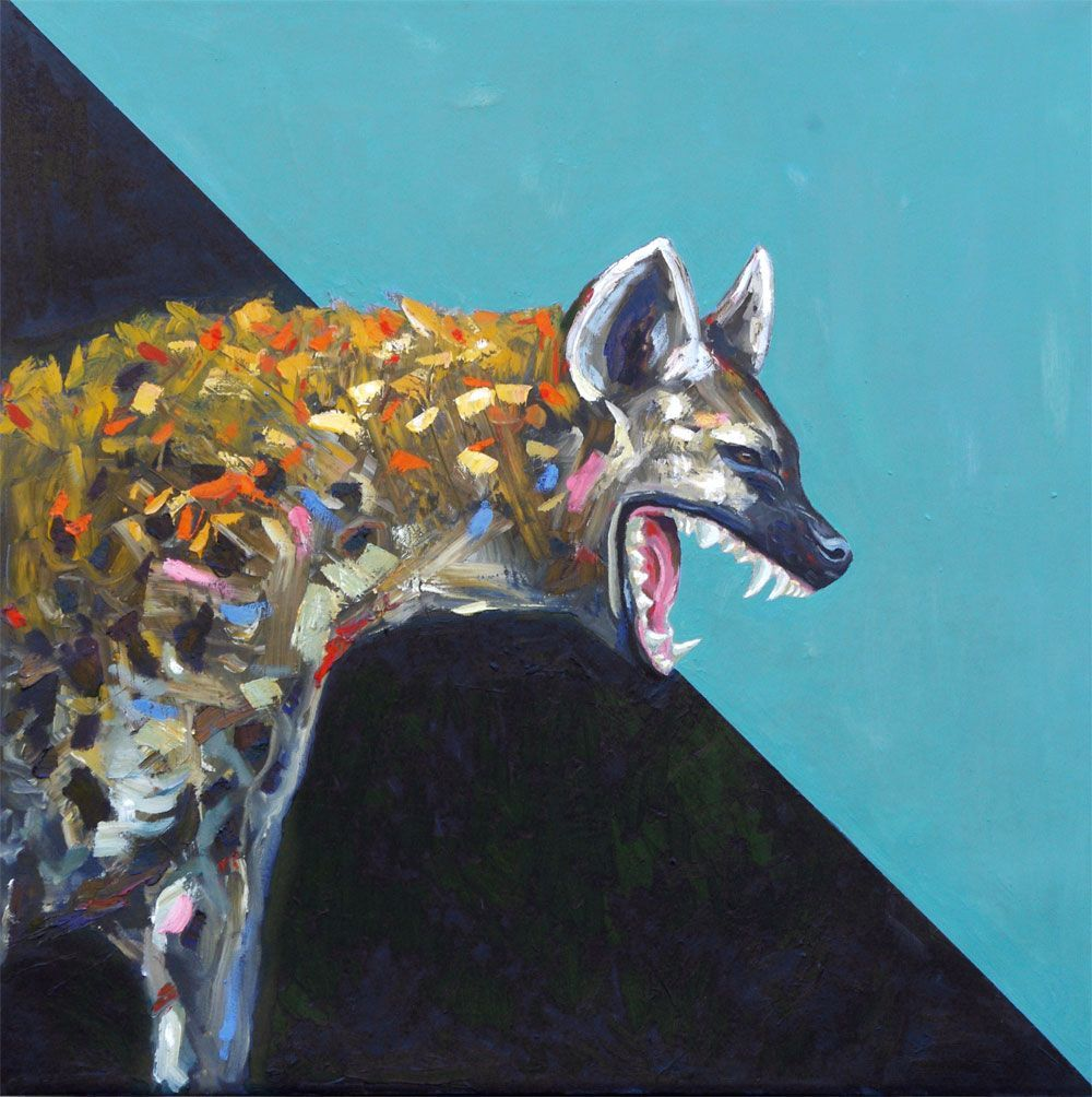 Into The Night – Hyena Oil Painting