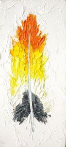 Orange-breasted-Bushshrike-Feather-animal-artist-art-painting-wildlife-Will-Eskridge-web