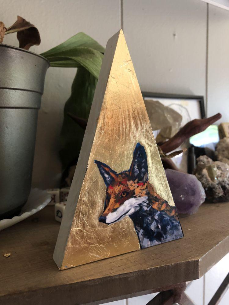 Golden Fox Will Eskridge Animal Artist Art Painting Wildlife Contemporary