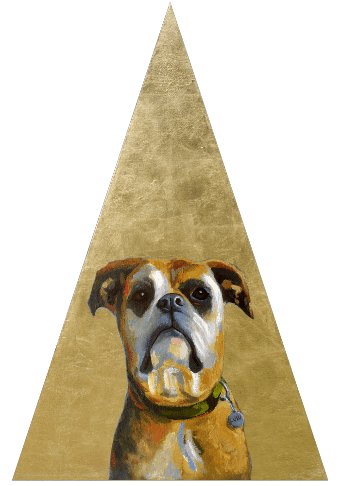 Pets Of Gold Custom Portrait ICON (triangle)