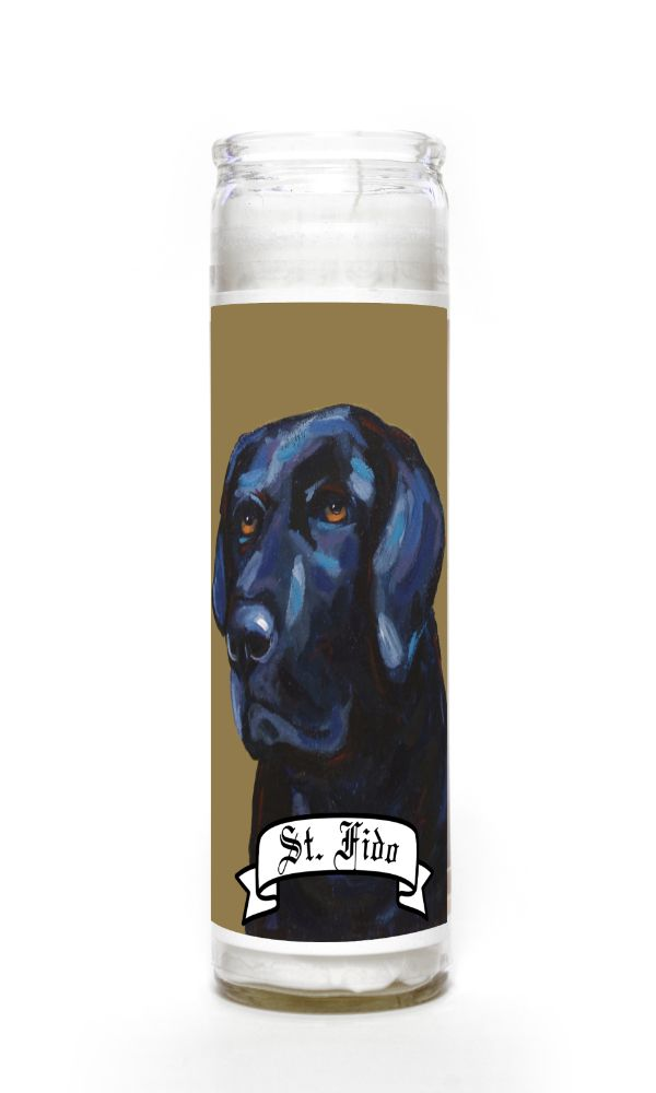 Black Lab contemporary pet portrait animal painting personalized spirit prayer novena Candle