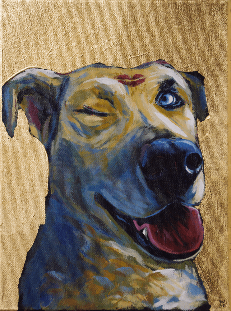 Lily Contemporary Pet Portrait Commission Animal Dog Painting Will Eskridge