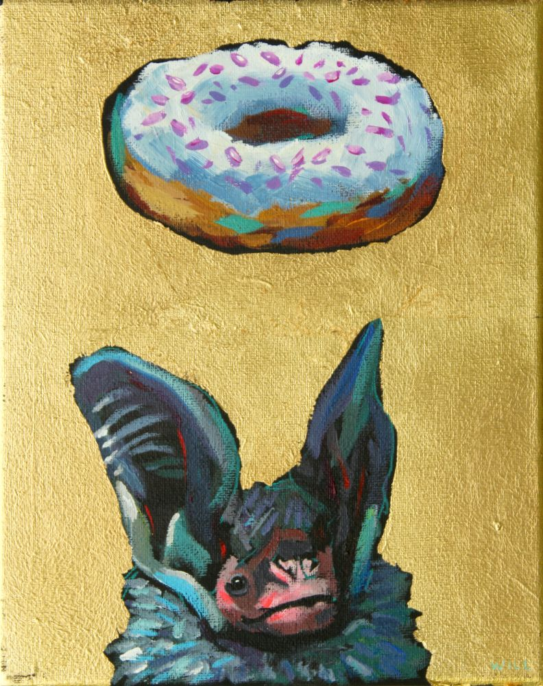 Donuts Will Save The World (Bat) Painting