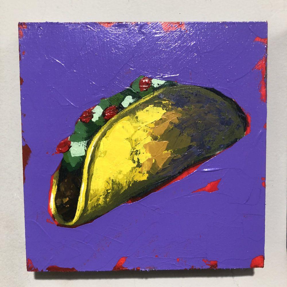 Hit Single Taco Purple Original Painting