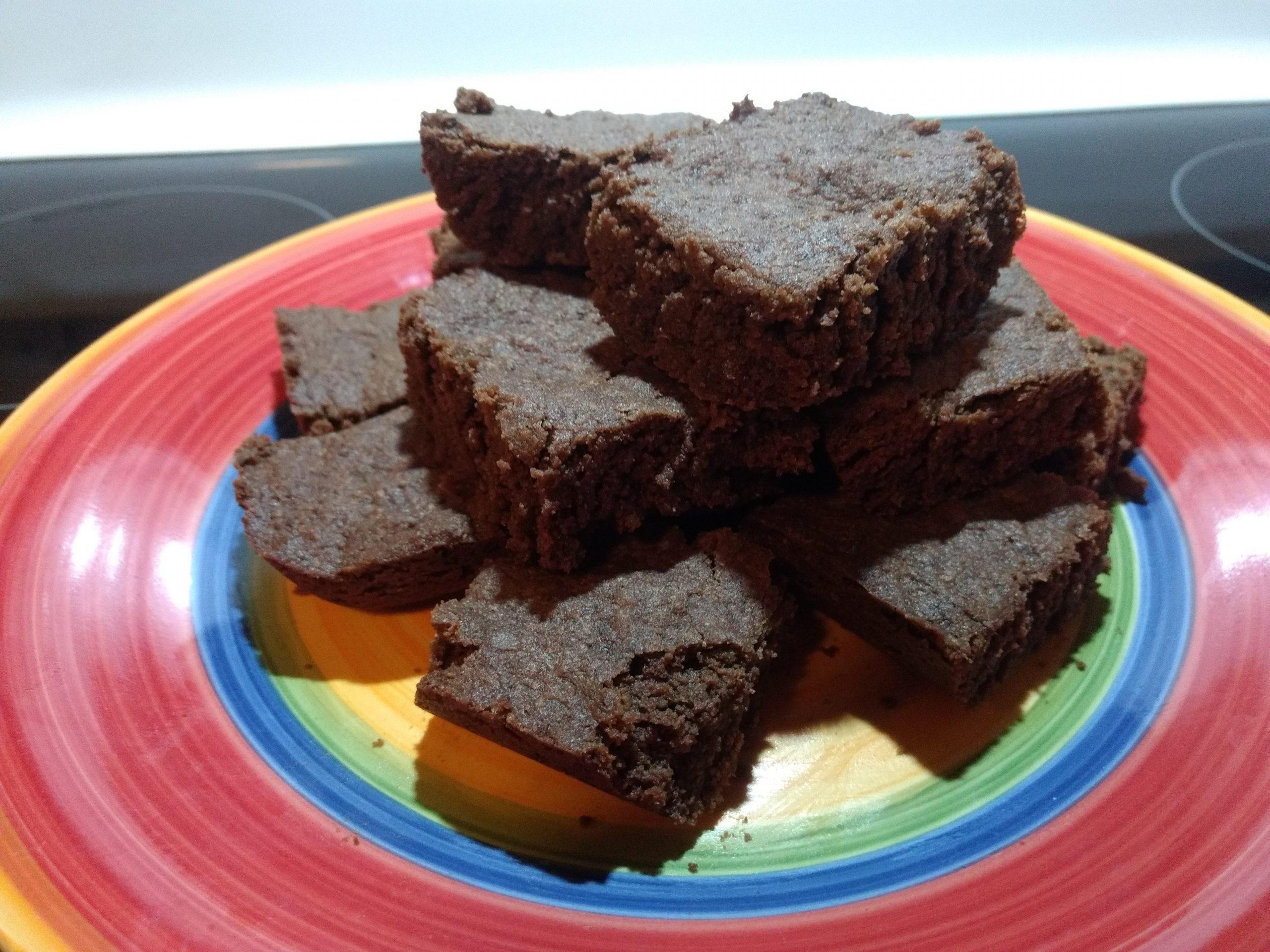 Chocolate Spice Acorn Shortbread Squares