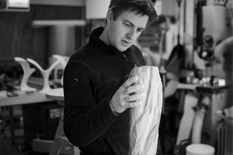Will Hunt in his workshop