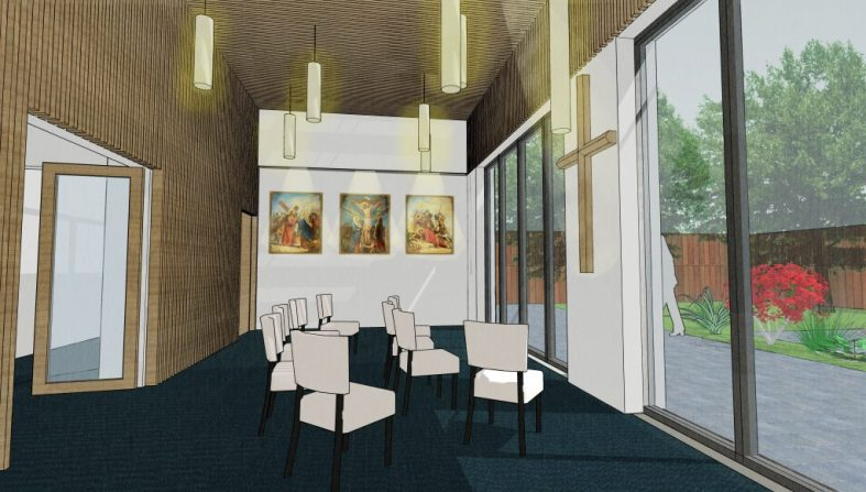 Visualisation of Chapel Space, St. Aloysius Convent (Connected Architecture)