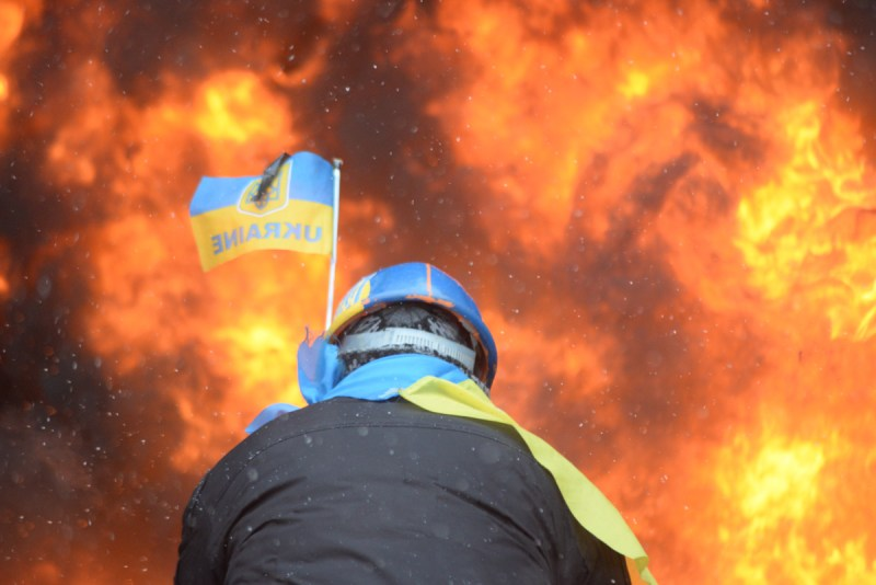 Protester in Ukraine at Maidan_WilliamBairamian.me