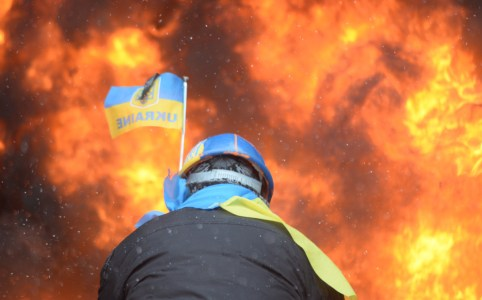 Protester in Ukraine at Maidan_WilliamBairamian.me