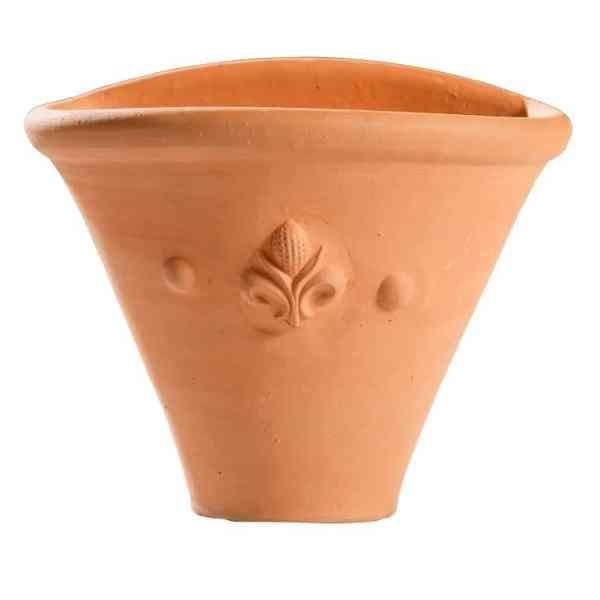 Wall pot with fleur de lys