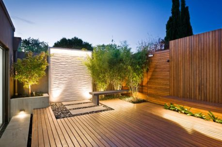 backyard wood patio with feature wallsp-PDF