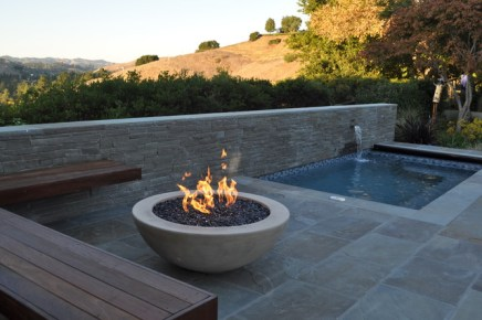 spa and fire bowl