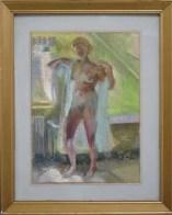 Untitled (pastel on panel)