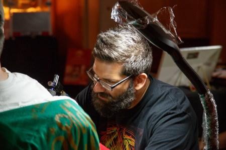 Tattoo Artist at WMC Fest 6 competing in Ink Wars