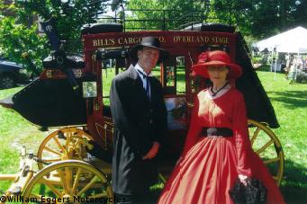 Bill Eggers: 1865 Wells Fargo Stagecoach