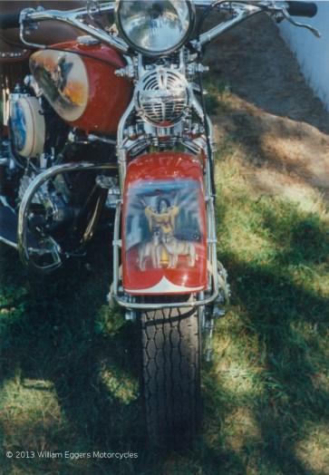 Bill Eggers: 1947 Harley Davidson Knucklehead Rear Closeup