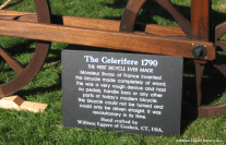 Bill Eggers: Image of 1790 Celerifere Replica With Sign