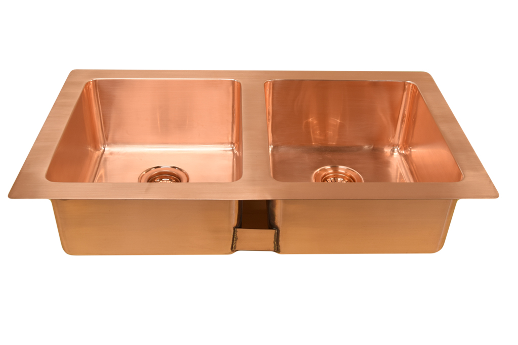 undermount double bowl kitchen sink
