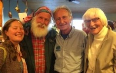 Jaimie and Gomer Pyle, Jim Kern and Gudie Gaskill at Hiknation 35th annual reunionMG_5151