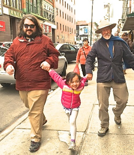 Bill & Charles with Sidney in Street 3-19-16