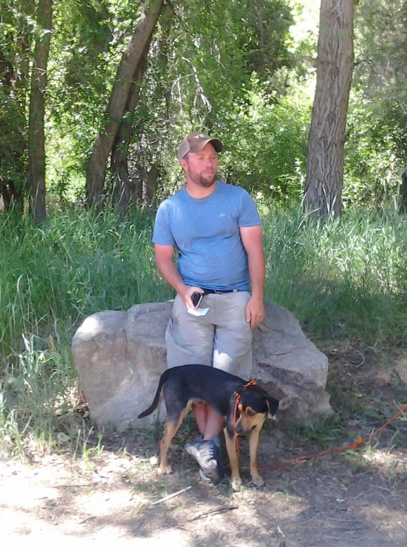 John & Orion at el Nogal trailhead 7-21-16 (2)