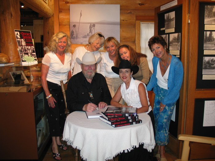 Authors Bill McGee and Sandra McGee at a booksigning in at the North Lake Tahoe Museum, Tahoe City, Calif., 2004