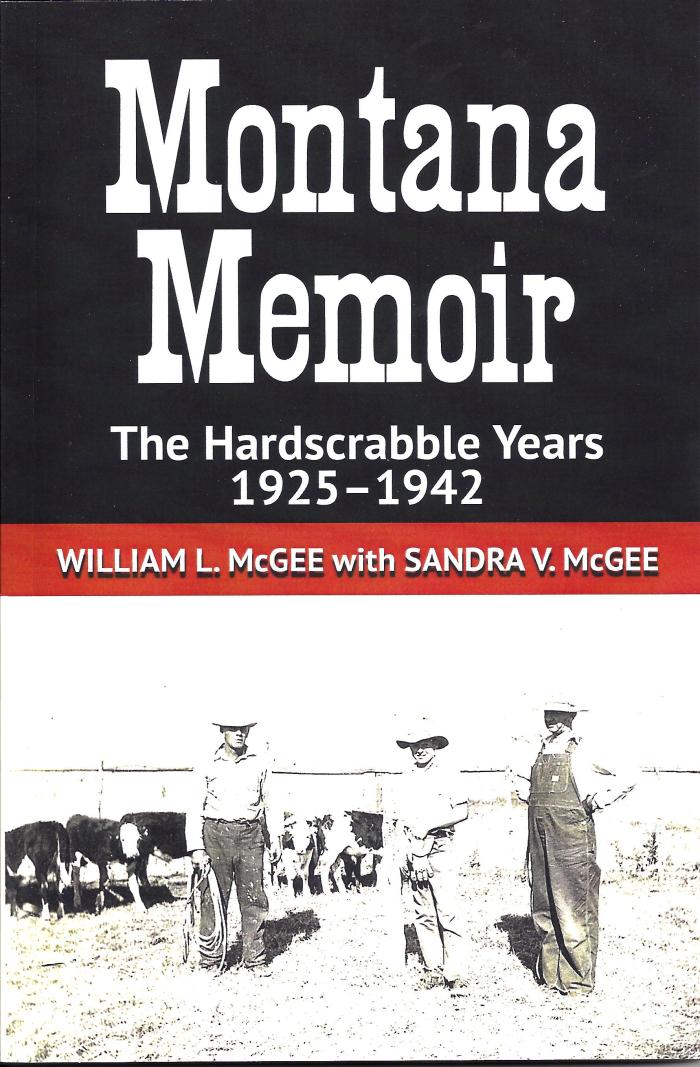 Cover of Montana Memoir by William L. McGee