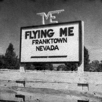 Sign for the Flying M.E., circa late 1930s