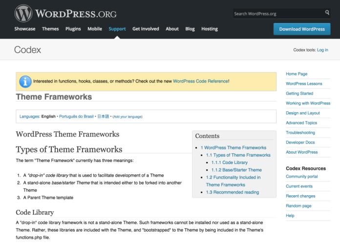 1449884618wordpress theme frameworks codex