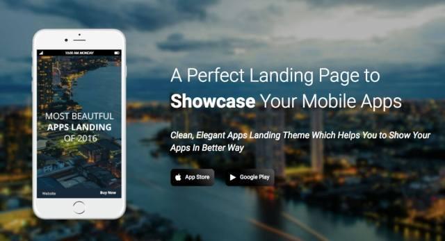 free landing page wordpress theme singleapp